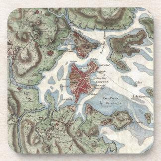 Vintage Map of Boston Harbor (1807) Beverage Coasters