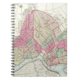 Vintage Map of Brooklyn (1868) Notebooks