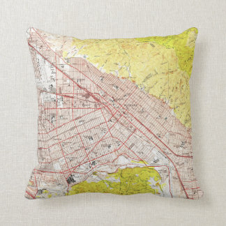 Vintage Map of Burbank California (1953) Cushion