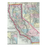 Vintage Map of California (1860) Postcards