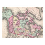 Vintage Map of Canada (1857) Postcards