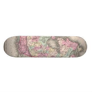 Vintage Map of Canada (1857) Skateboard Decks