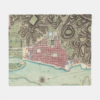Vintage Map of Cap-Haitien Haiti (1786) Fleece Blanket