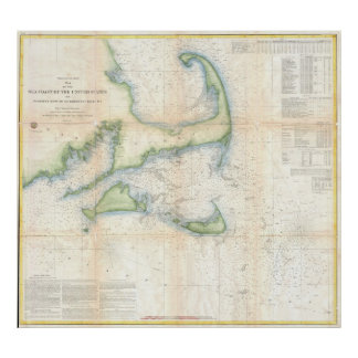 Vintage Map of Cape Cod (1857) Poster