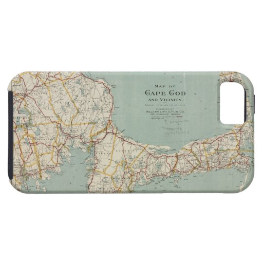 Vintage map of cape cod 1917 iphone 5 cases zazzle for Case modello cape cod