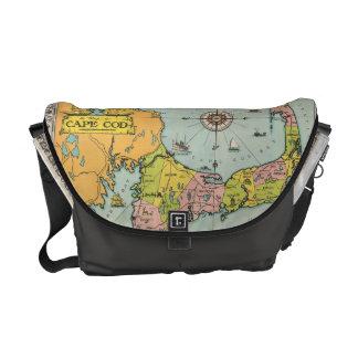 Vintage Map of Cape Cod Messenger Bags