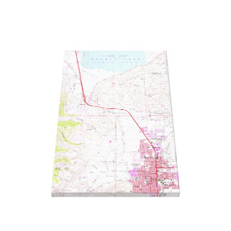 Vintage Map of Carson City & Washoe Lake NV (1968) Canvas Print