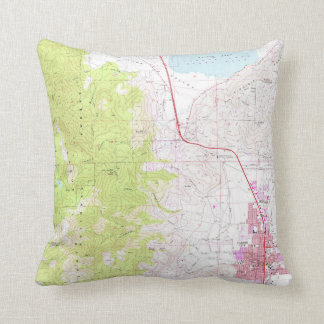 Vintage Map of Carson City & Washoe Lake NV (1968) Cushion