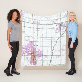 Vintage Map of Chandler & Gilbert Arizona (1952) Fleece Blanket