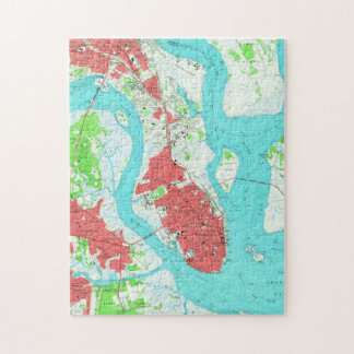 Vintage Map of Charleston South Carolina (1958) 2 Jigsaw Puzzle