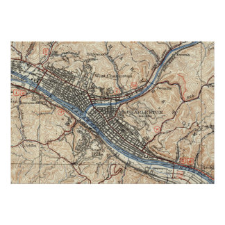 Vintage Map of Charleston West Virginia (1931) Poster