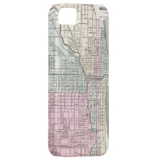 Vintage Map of Chicago (1855) iPhone 5 Case