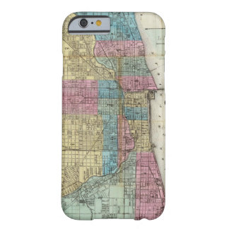 Vintage Map of Chicago (1869) Barely There iPhone 6 Case