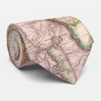 Vintage Map of Chile (1818) Tie