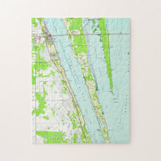 Vintage Map of Cocoa Florida (1949) Jigsaw Puzzle