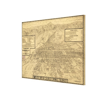 Vintage Map of Colorado Springs CO (1909) Stretched Canvas Prints