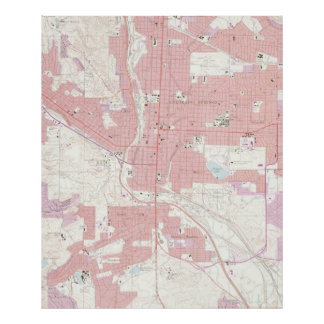 Vintage Map of Colorado Springs CO (1961) 2 Poster