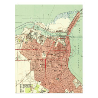 Vintage Map of Corpus Christi Texas (1951) Postcard