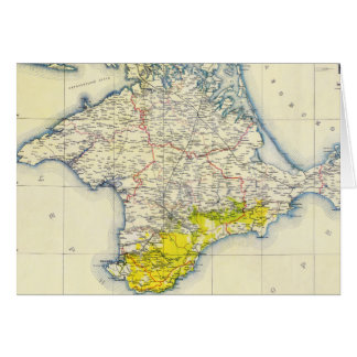 Vintage Map of Crimea (1922) Card