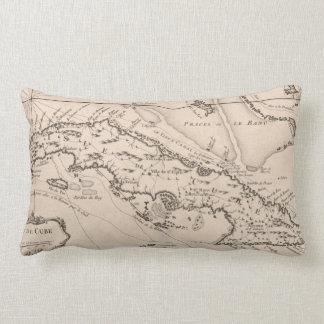 Vintage Map of Cuba (1764) Lumbar Cushion