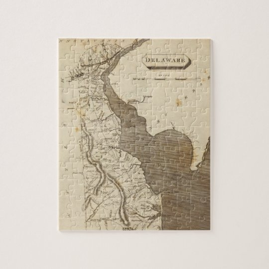 Vintage Map of Delaware (1804) Jigsaw Puzzle