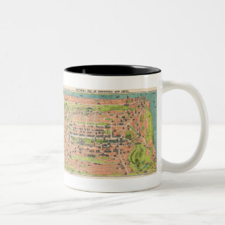 Vintage Map of Edinburgh Scotland (1935) Two-Tone Coffee Mug