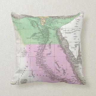Vintage Map of Egypt (1827) Cushion