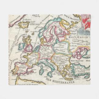 Vintage Map of Europe (1706) Fleece Blanket