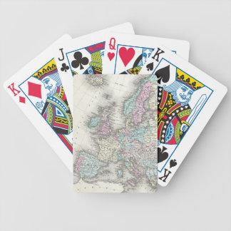 Vintage Map of Europe (1855) Poker Deck