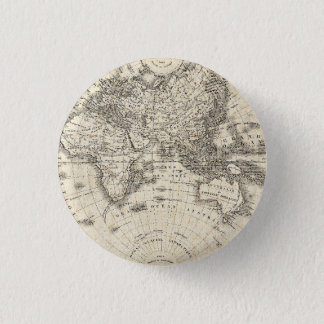 Vintage Map Of Europe and Asia 3 Cm Round Badge