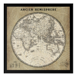 Vintage Map Of Europe and Asia Acrylic Print