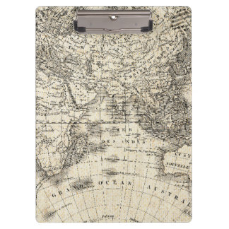 Vintage Map Of Europe and Asia Clipboard