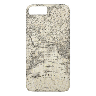 Vintage Map Of Europe and Asia iPhone 8 Plus/7 Plus Case