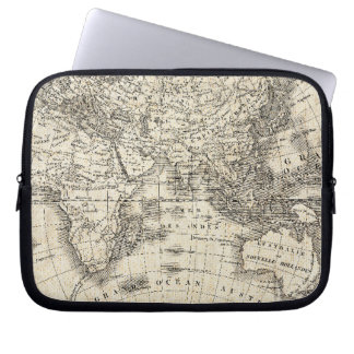 Vintage Map Of Europe and Asia Laptop Sleeve