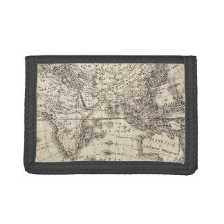 Vintage Map Of Europe and Asia Tri-fold Wallet