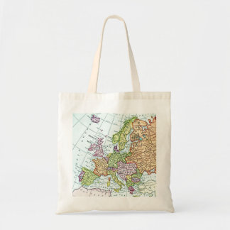 Vintage map of Europe colorful pastels