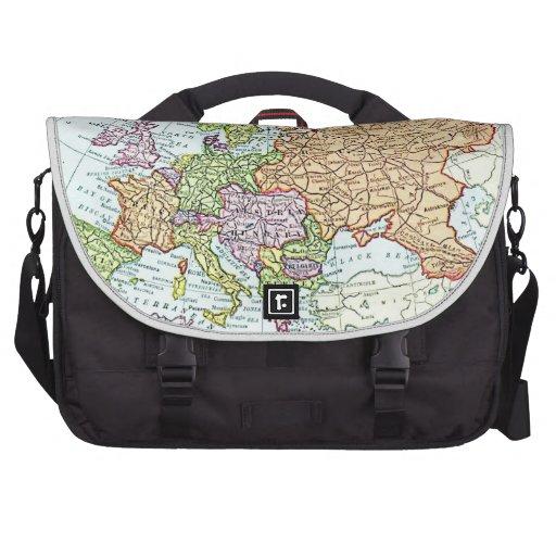 Vintage map of Europe colorful pastels Laptop Bag