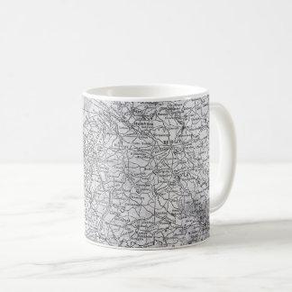 Vintage Map of Europe - Germany, Netherlands Gift Coffee Mug