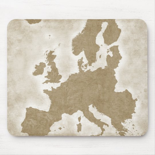 Vintage Map Of Europe Mouse Pad