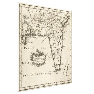 Vintage Map of Florida (1763) 2 Canvas Print
