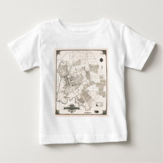 Vintage map of Flushing 1894 Baby T-Shirt