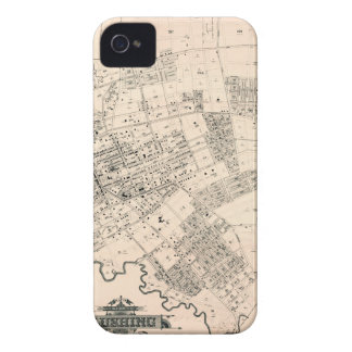 Vintage map of Flushing 1894 iPhone 4 Cover