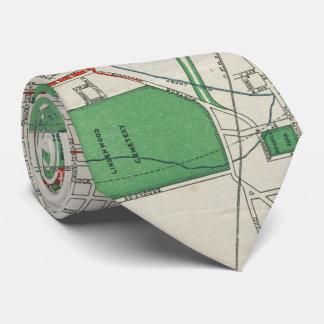 Vintage Map of Fort Wayne Indiana (1919) Tie