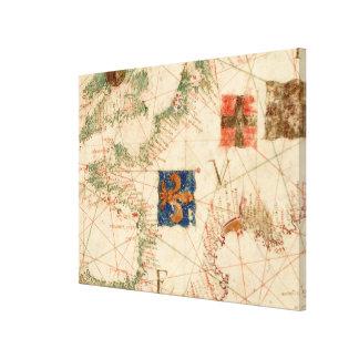 Vintage Map of France (1600) Canvas Print