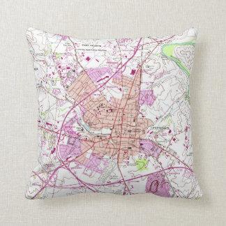 Vintage Map of Frederick Maryland (1953) Cushion