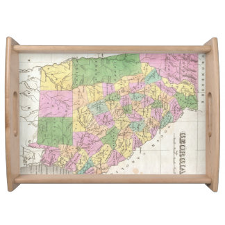 Vintage Map of Georgia (1827) Serving Tray