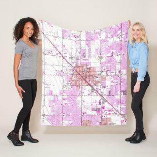 Vintage Map of Glendale Arizona (1957) Fleece Blanket