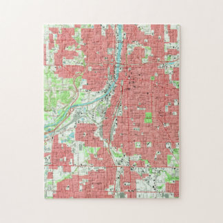 Vintage Map of Grand Rapids Michigan (1967) Jigsaw Puzzle