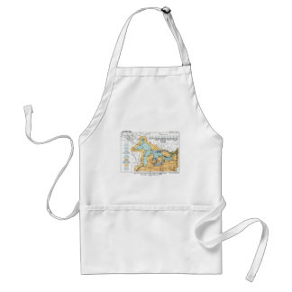 Vintage Map of Great Lakes Standard Apron