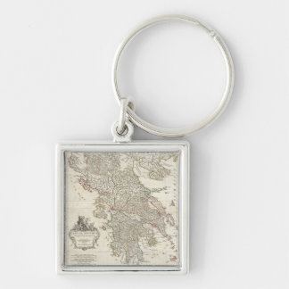 Vintage Map of Greece (1794) Key Chain